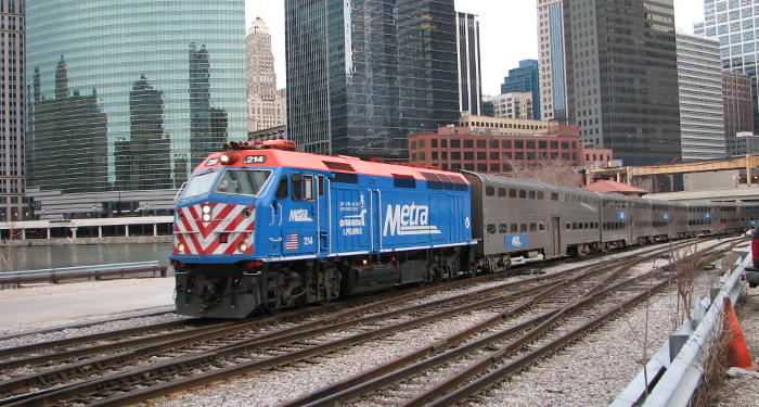 """Metra train near Union Station"" by Marcel Marchon, flickr.com CC BY-NC-SA 2.0"