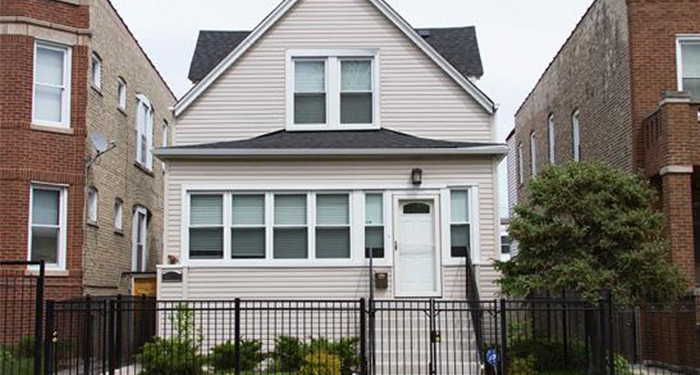 The house at 4419 N. Kimball Ave. was rehabbed under the federally-funded Neighborhood Stabilization Program. After costing $594,359 to fix up, it sold for $187,000. The Chicago Reporter