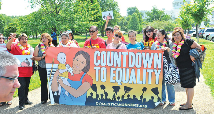 National Domestic Workers Alliance. Courtesy of NDWA rally for justice