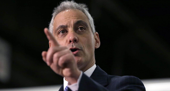 Chicago Mayor Rahm Emanuel is taking a political beating, largely because of crime and problems in the police department. Charles Rex Arbogast / AP file