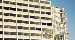 The demolition of the Cabrini-Green housing complex. Photo by ThinkStock