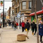 Students tour South Chicago as part of a competition to envision how a neighborhood can revitalize itself. Photo by Andrew Mateja.