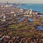 An aerial view of Jackson Park. Historically, Natalie Moore writes, Chicago's South Side has been much more a subject of the arts than the West Side. | Lee Hogan/Sun-Times library