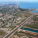 The 440-acre South Works site has been vacant since 1992. Photo by Chicago Lakeside Development.
